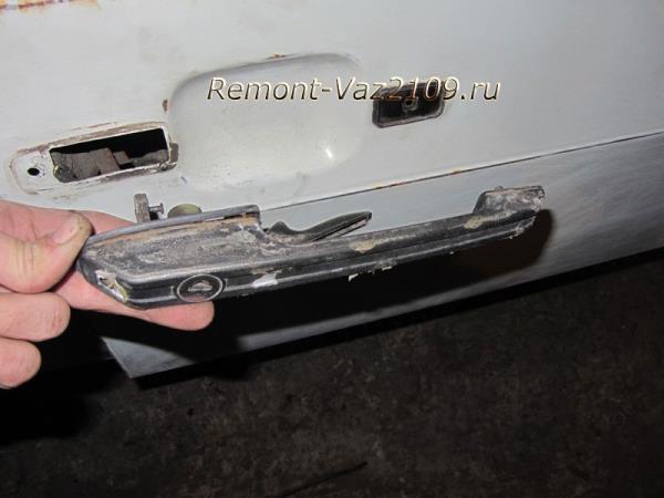 замена наружной ручки двери на ВАЗ 2109-2108