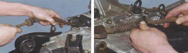 Снятие троса привода сцепления на автомобиле ваз 2108