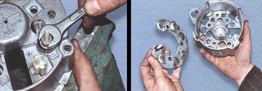 автомобиль ваз 2106-ремонт генератора разборка и сборка