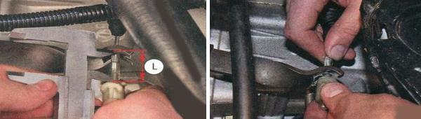 Измерение расстояния и фиксация тросика