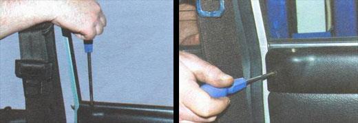 как поменять накладку на дверь видео