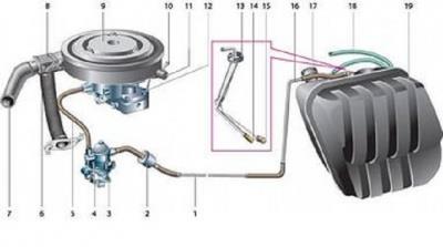 схема замены топливного фильтра