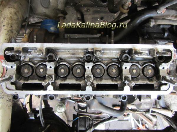 головка двигателя Калины без распредвала
