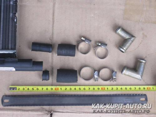 Обрезка штуцеров радиатора печки Калина