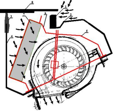 Установка адаптера фильтра салона