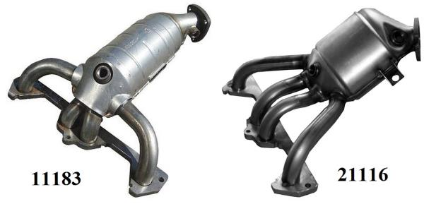 Катколлекторы 8-клапанных двигателей Лада Гранта (ВАЗ 2190)