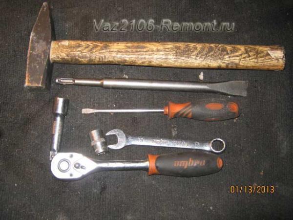 инструмент для снятия и установки кардана на ВАЗ 2106