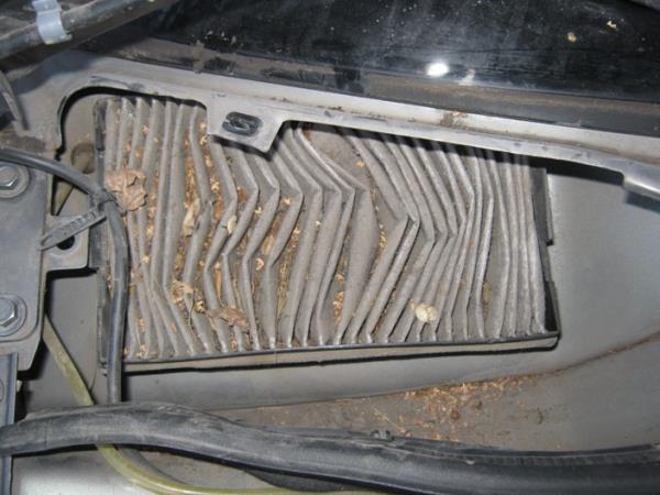 старый салонный фильтр лады калины
