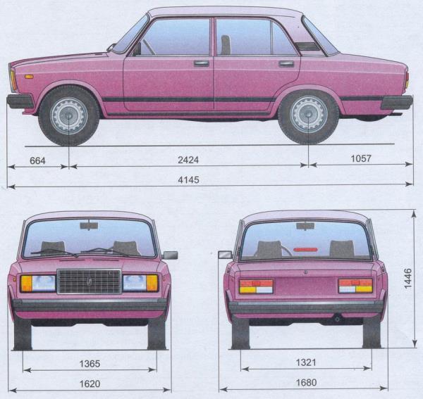 статья про описание автомобиля - лада ваз 2107 | lada vaz 2107 габаритные размеры автомобиля ваз лада 2107