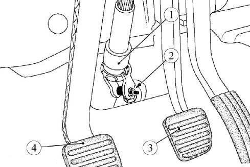 Гайка крепления промежуточного вала рулевого управления Lada Largus