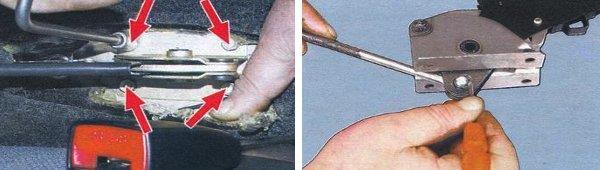 снятие и замена рычага ручника ваз 2108