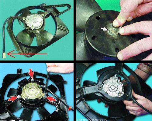 снятие и установка вентилятора на автомобиле ваз 2106 классика