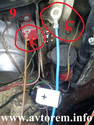Подключаем провода от коммутатора к катушке