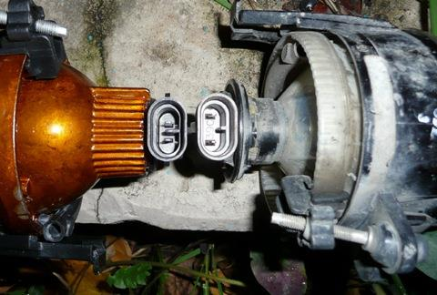 Замена лампы противотуманной фары калина