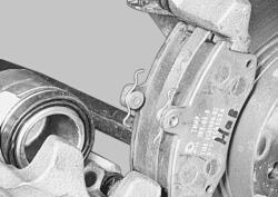 Установите новые тормозные колодки