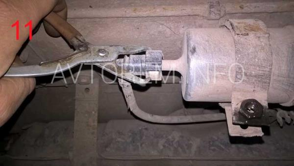 как заменить бензиновый фильтр 21099 инжектор