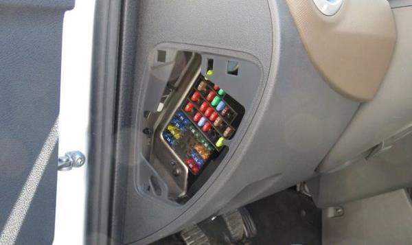 Блок предохранителей на панели с водительской стороны Lada Largus