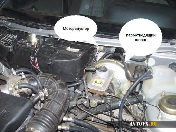 Схема моторедуктора печки ВАЗ 2110