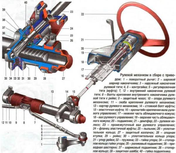 Замена рулевой тяги ВАЗ 21 12