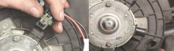 Как снять электродвигатель вентилятора отопителя Нива Шевроле