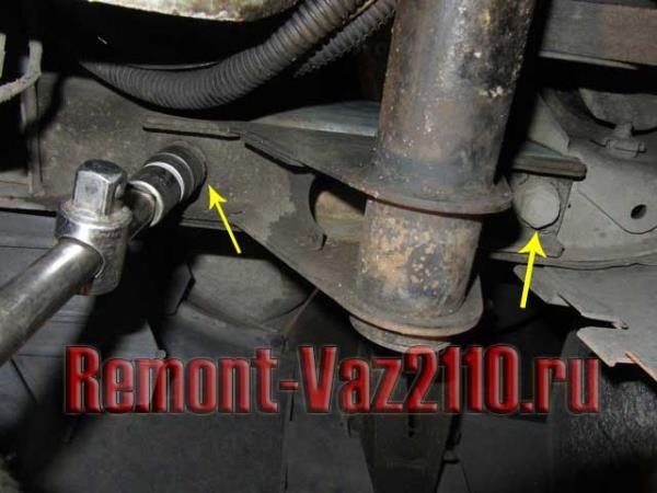 болты крепления передней балки ВАЗ 2110-2112 к передним лонжеронам