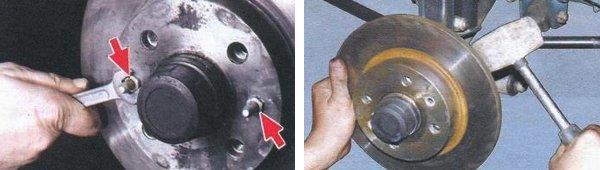 установка нового тормозного диска ваз 2108
