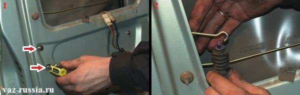 Выворачивание винтов крепления мото-редуктора и его снятие