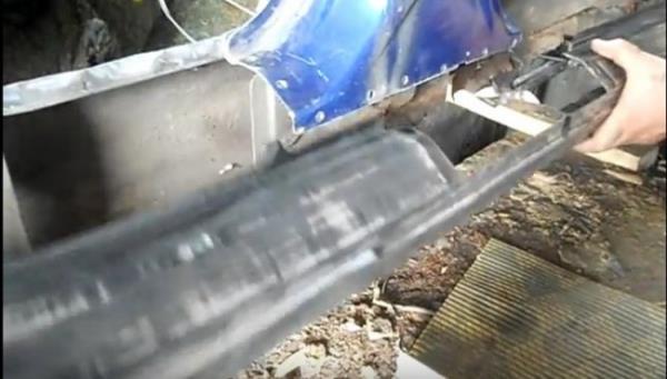 Установка наружной панели для порога ВАЗ 2110