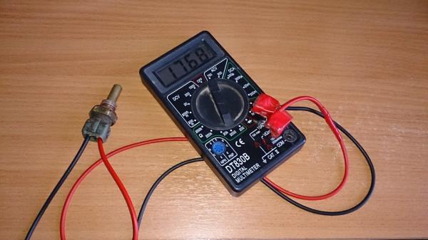 Измерение сопротивления датчика температуры охлаждающей жидкости Лада Гранта (ВАЗ 2190)