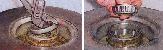 Замена сальника ступицы переднего колеса ваз 2105