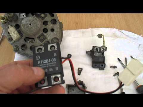 Как установить термо реле регулятор в генератор Г-222.