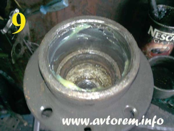 Подготовка ступицы ваз