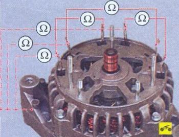 Замена и проверка регулятора, конденсатора и щеток генератора Лада Калина
