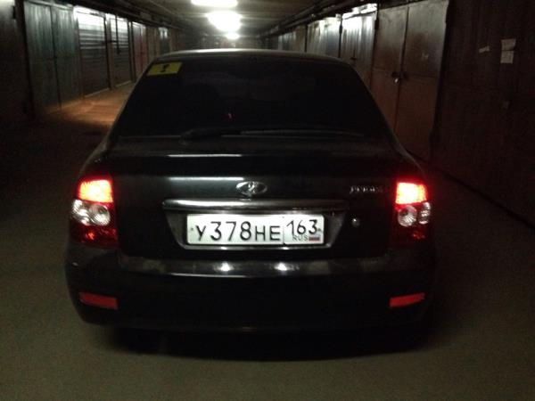 Как заменить лампочки подсветки заднего номера приора - Fin-dacha.ru
