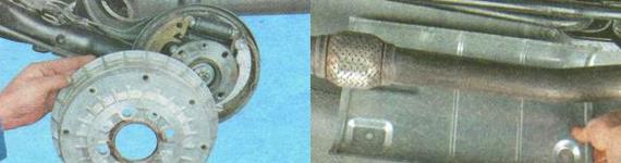 Замена тросов привода стояночного тормоза Лада Гранта
