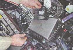 Снятие коробки переключения передач Лада Гранта