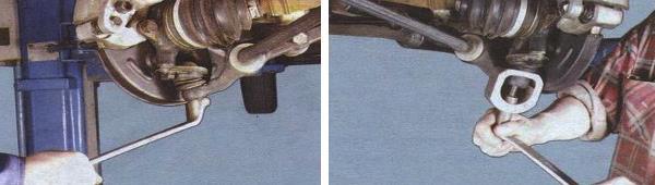 Снятие и замена шаровой опоры на автомобиле ваз 21099