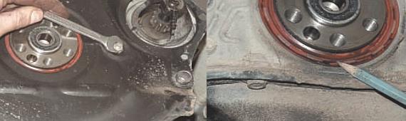 Замена заднего сальника коленчатого вала Нива Шевроле