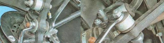 Замена рычага передней подвески Лада Гранта