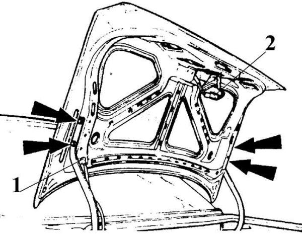 Втулка замка багажника ВАЗ 2107