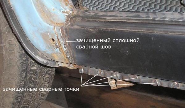 замена порогов ваз 2101