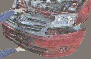 Операции по снятию блок - фары с автомобиля Лада Гранта