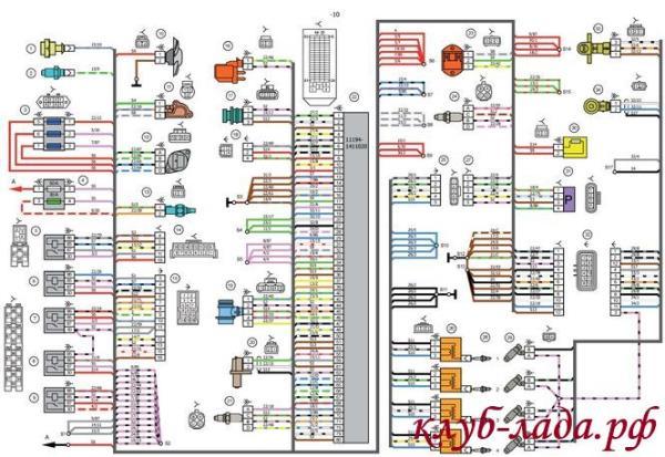 схема системы зажигания Лада Калина Люкс