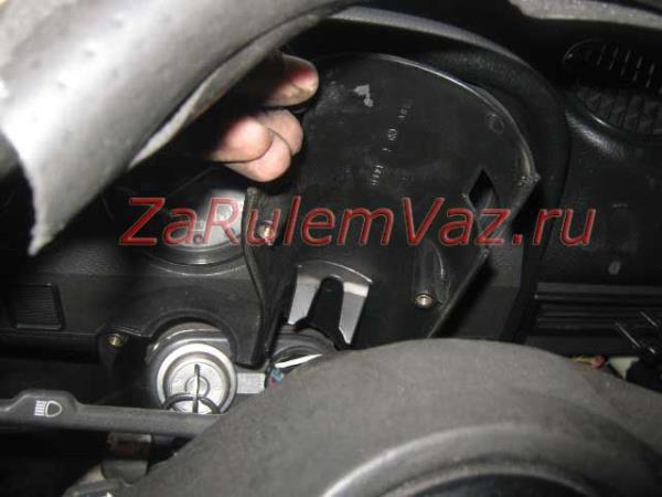 снятие кожуха рулевой колонки ВАЗ 2107