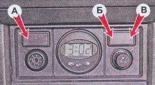 Клавишные выключатели ВАЗ 2107
