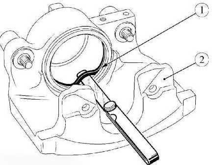Снятие уплотнительного кольца посадочного места поршня суппорта Lada Largus