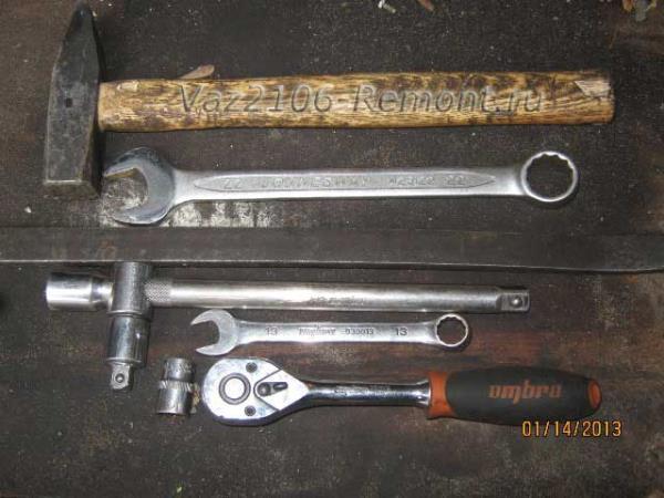 инструмент для замены шаровых опор на ВАЗ 2106