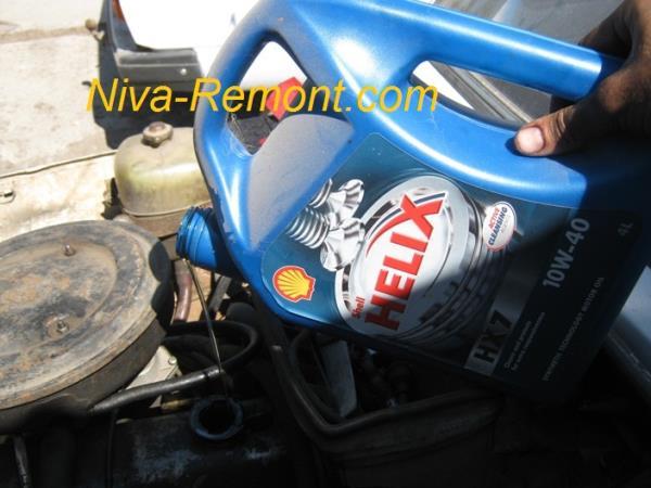 замена масла в двигателе ВАЗ 2121 Нива