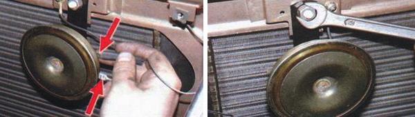 Снятие и замена звукового сигнала ваз 2109