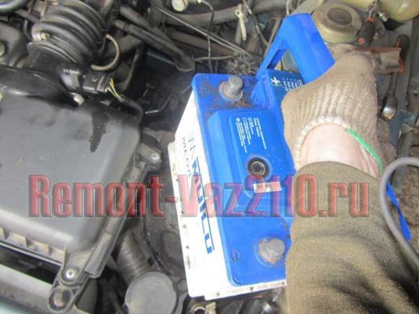 снятие и установка аккумулятора на ВАЗ 2110-2112